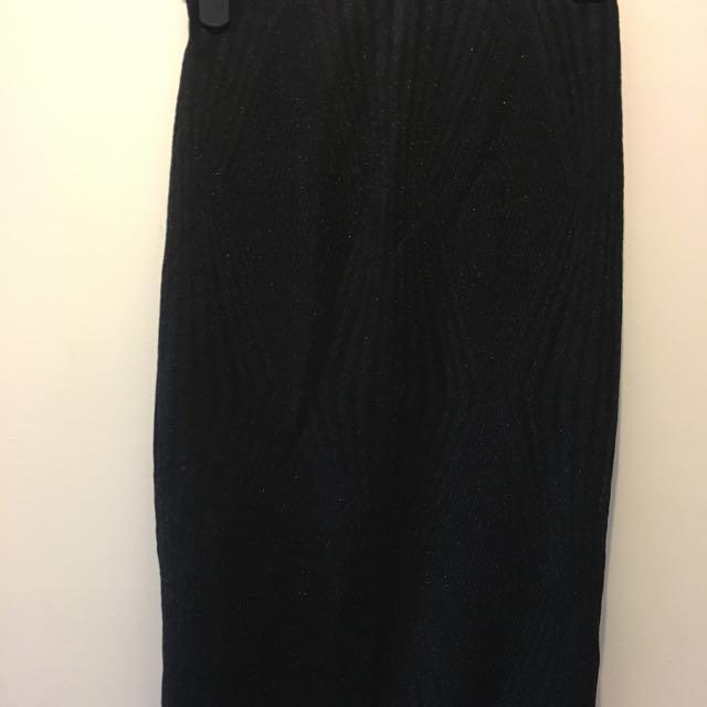 Bardot Black Shimmer Pencil Skirt #15FLASHSALE