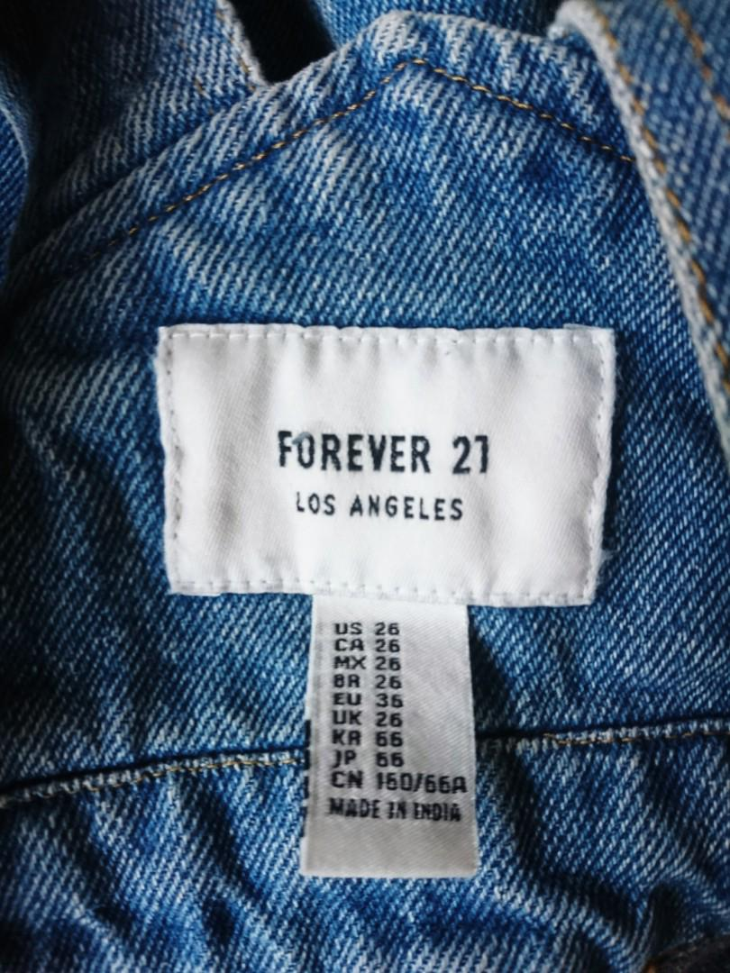 New F21 overalls, sz 26