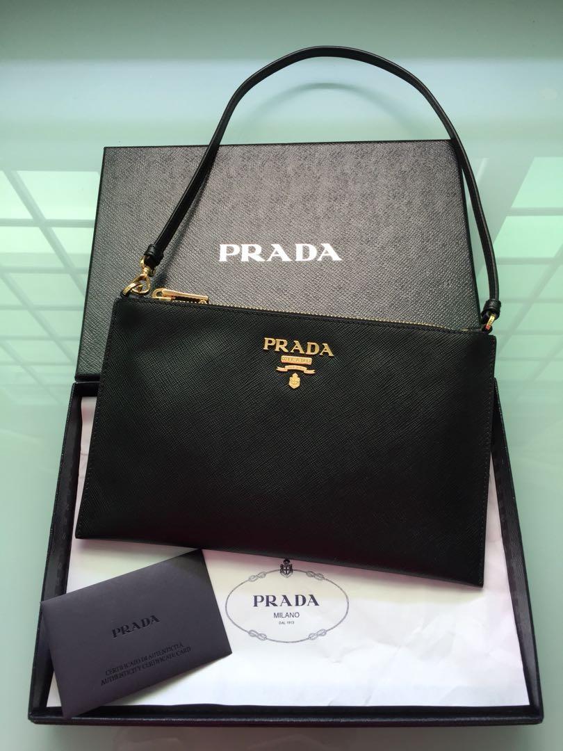 b75cfc7099a9ec ... cheapest brand new prada safflano pochette clutch bag luxury bags  wallets 804b2 8190c