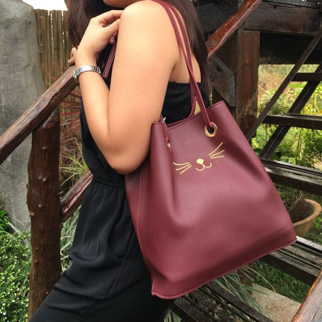 07eb68cd19 Cat Bag, Women's Fashion, Bags & Wallets on Carousell