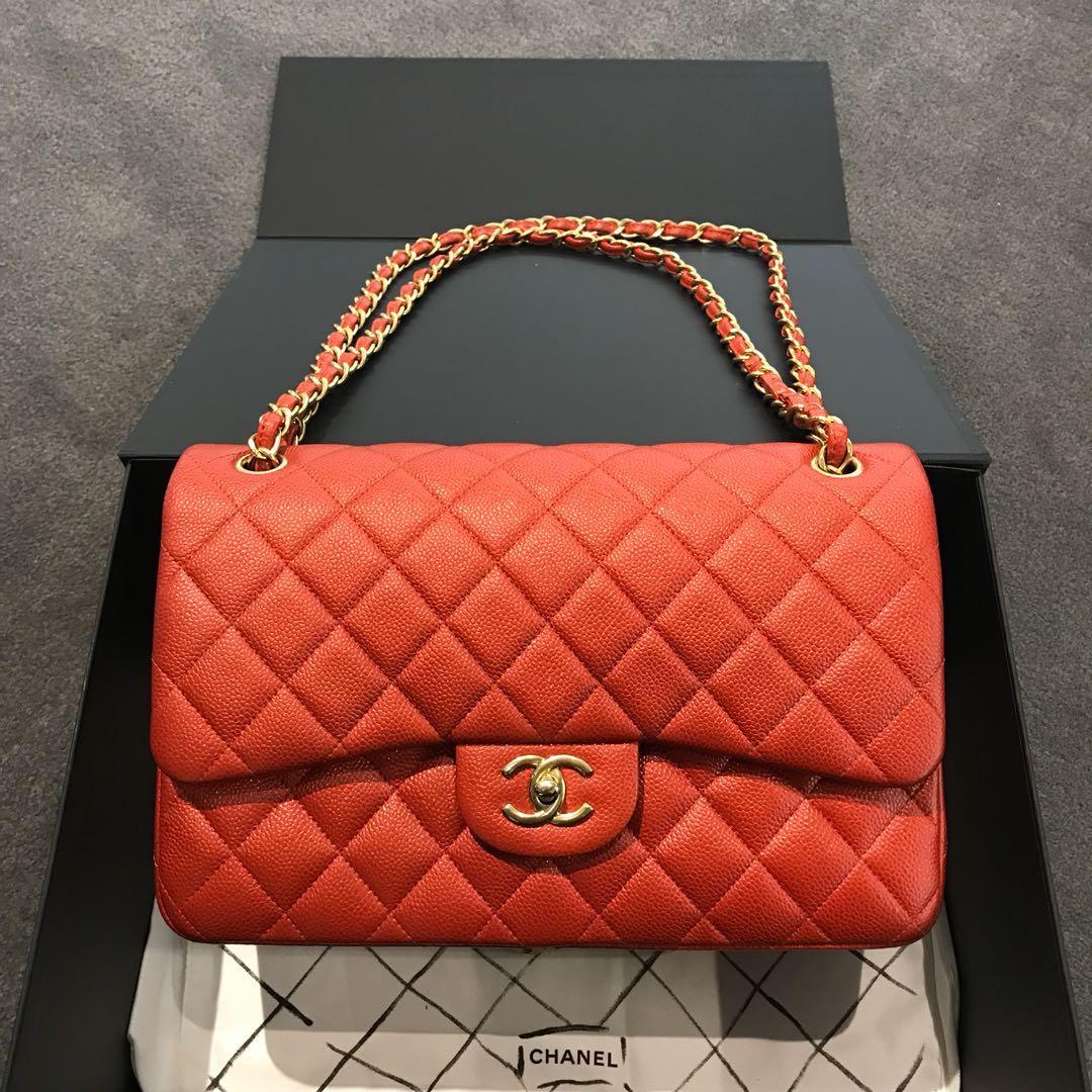5d3d8b80d8e0 Chanel Classic Jumbo Caviar, Luxury, Bags & Wallets, Handbags on ...