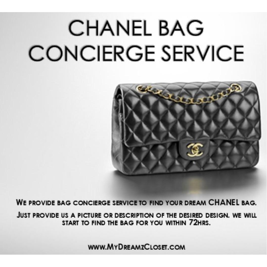 CHANEL HANDBAG CONCIERGE SERVICE
