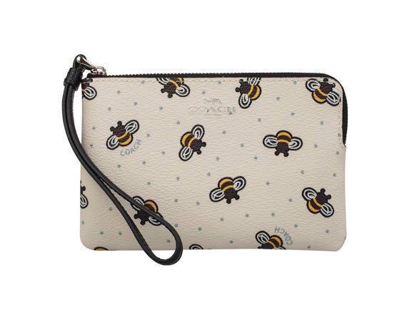 Leather wallet Bumble Bee