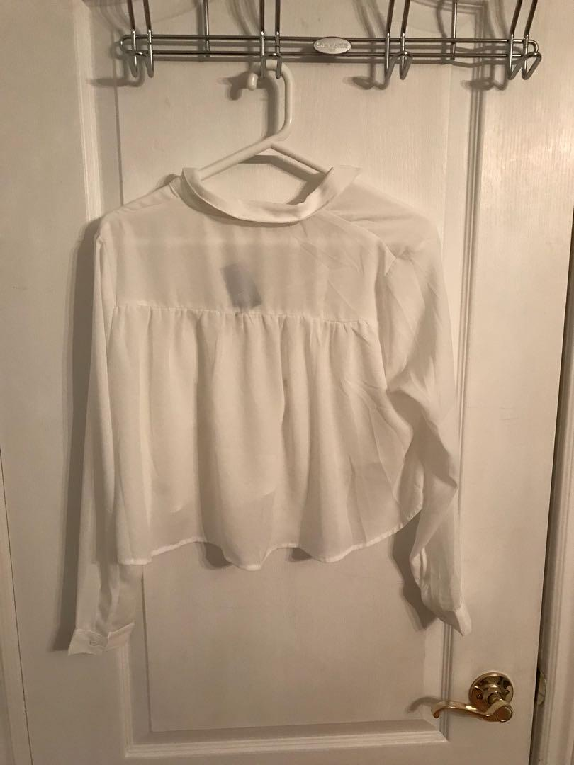 FASHION NOVA tie up blouse