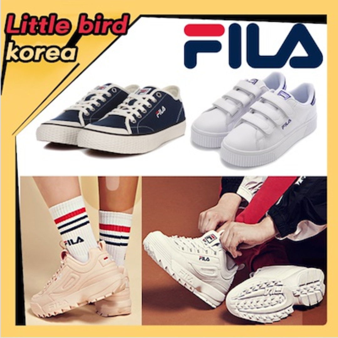 8e64038fa82 [FILA] Best Fila Korea Shoes/DISRUPTOR/RAY/SLIDER/DRIFTER/100%authentic  /Velcro shoes /Classic Kicks