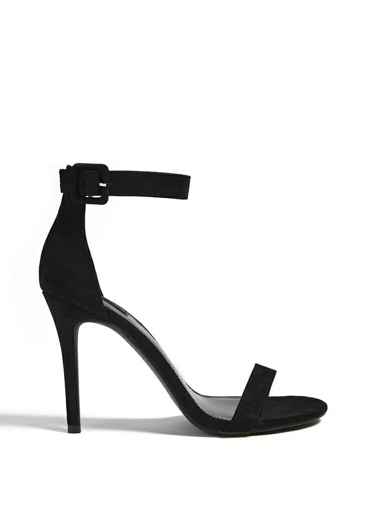 39aa2acbae07 EU 40 Black ankle strap Suede heels Forever 21