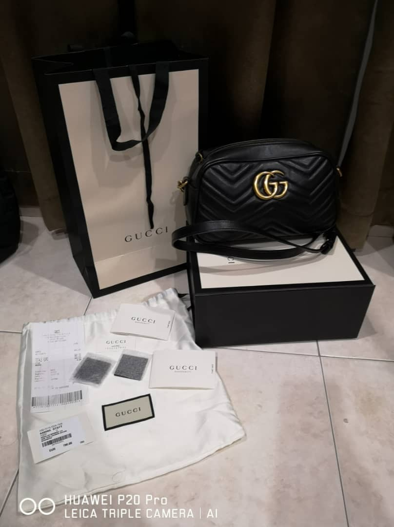 e1ca3de1b3bd Authentic Gucci GG Marmont small matelassé shoulder bag, Luxury ...