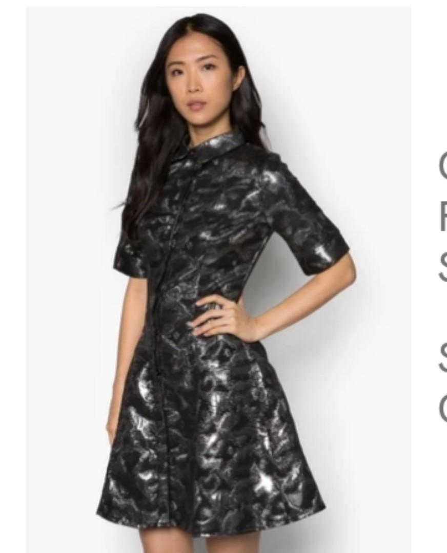 cb80638b911 Goddiva Flare black Shirt Dress-brand new with tag
