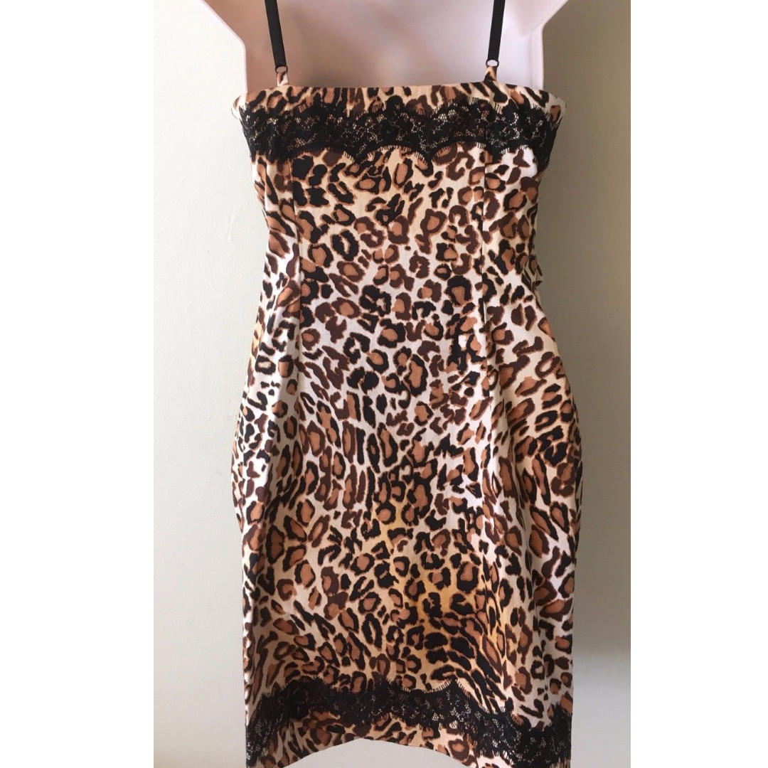 Guess Marciano Leopard Corset Style Dress - Size XS (Brand New)