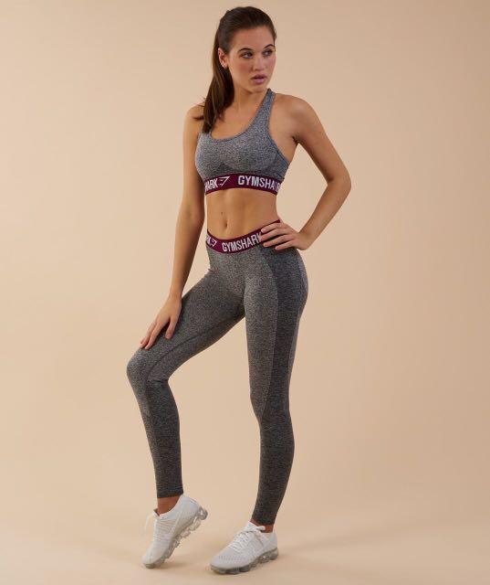 8d869358d1afa Gymshark Flex Set in Charcoal/Deep Plum, Women's Fashion, Clothes ...