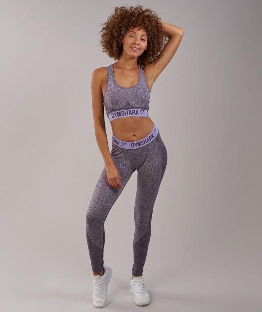 13f7ccc68b87be Gymshark Flex Set in Purple Wash Marl/Pastel Lilac, Women's Fashion ...