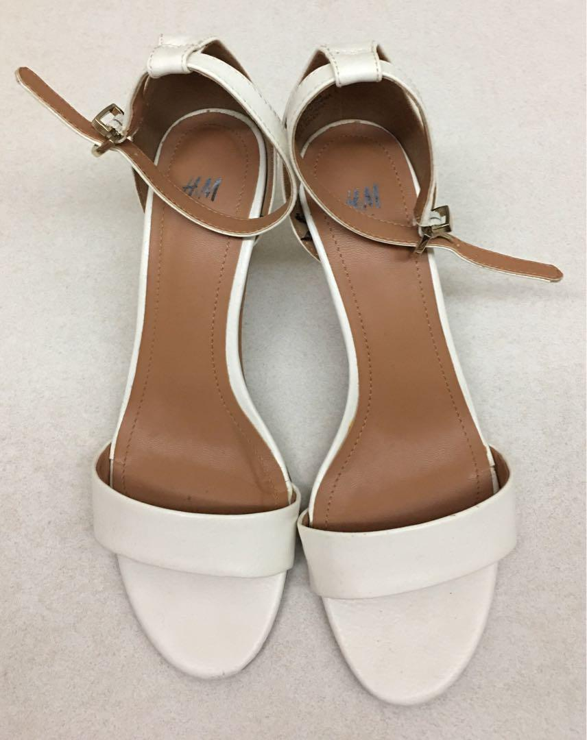 H\u0026M - White ankle heels (size 36