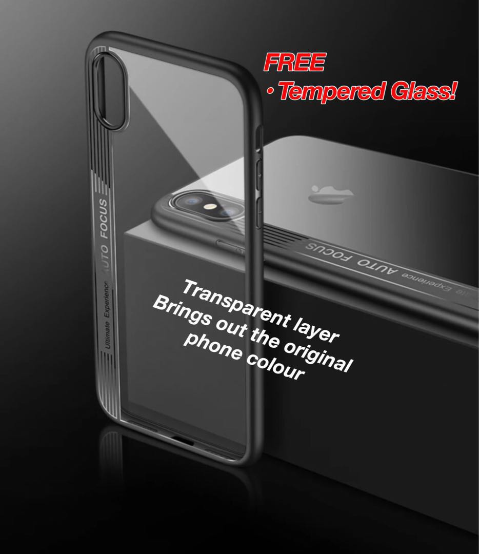 IPhone X Casing Free Templated Glass