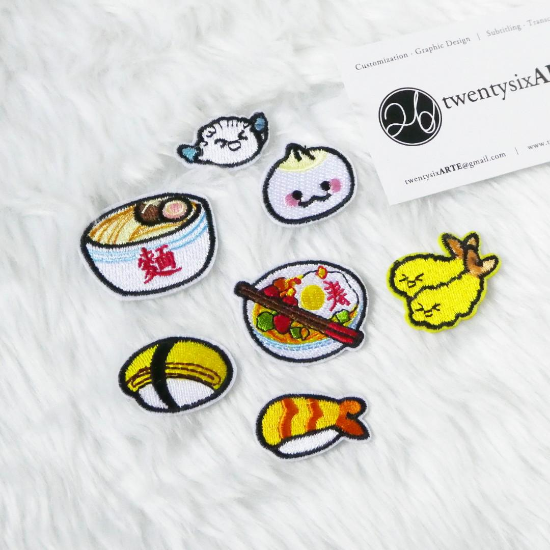 Iron On Patches | Japanese Food Series