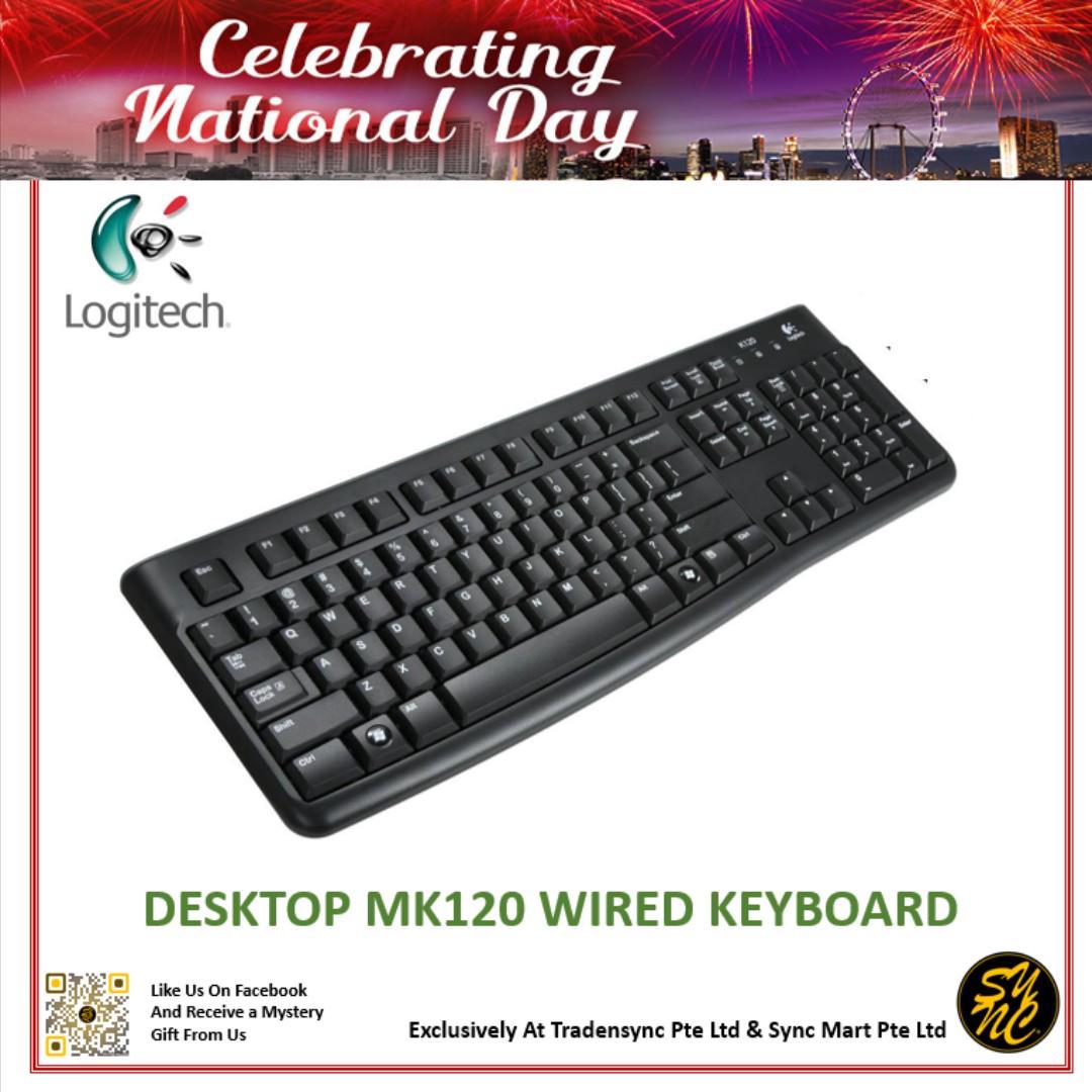 Logitech MK120 Wired Keyboard (Brand New), Electronics
