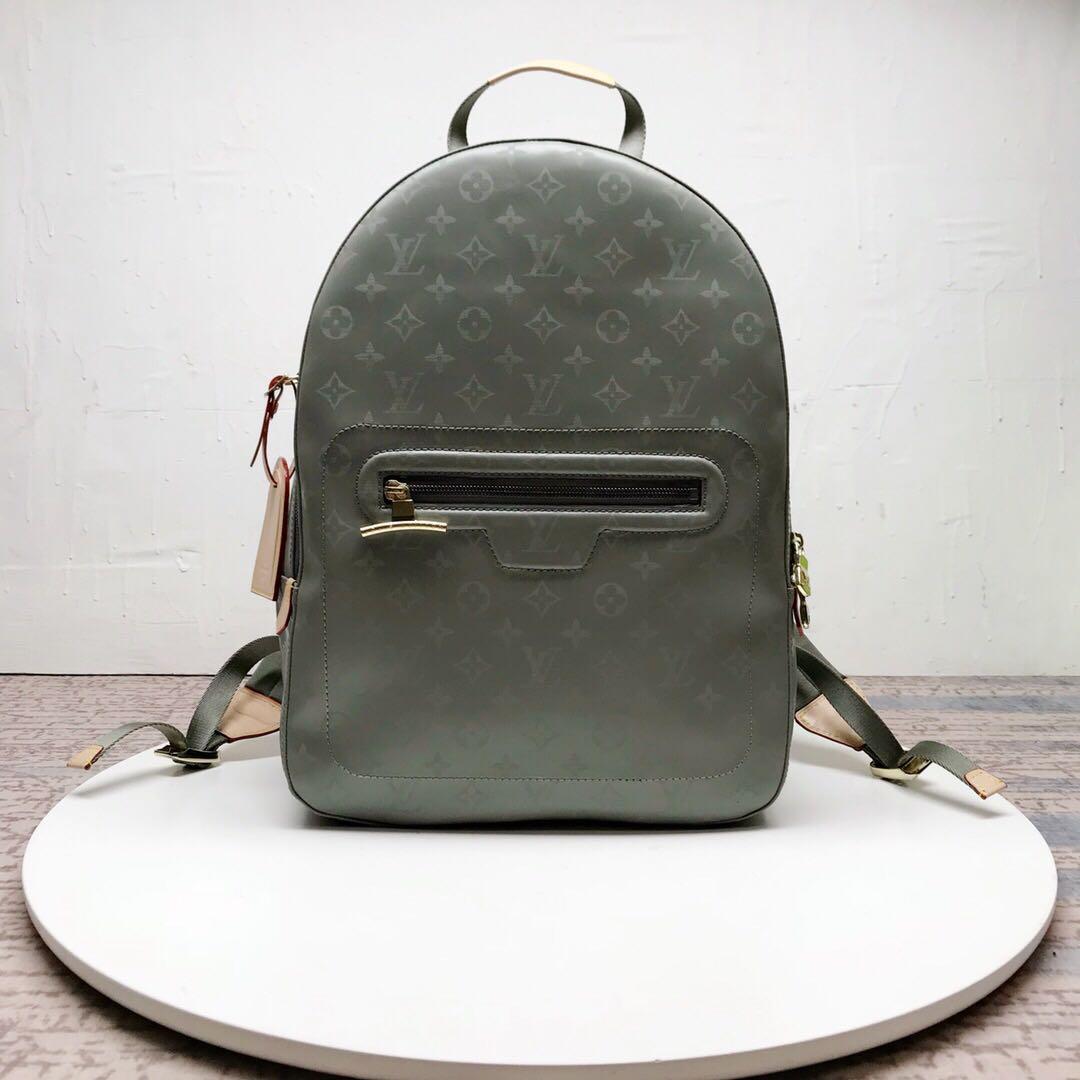 90a01d9c50f7 Louis Vuitton LV Monogram Titanium Backpack Bag M43882
