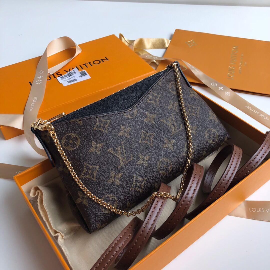 90e87608fb84 Louis Vuitton Pallas Clutch M41638 LV Sling Bag