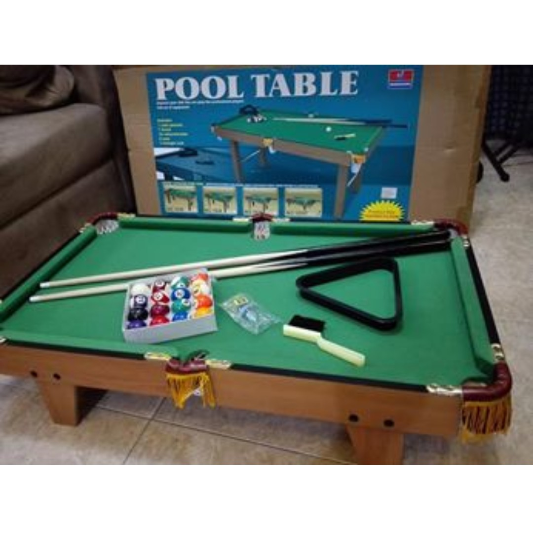 Mini Pool Billiard Table Set Xx Inches Sports Other Sports - Mini billiards table set