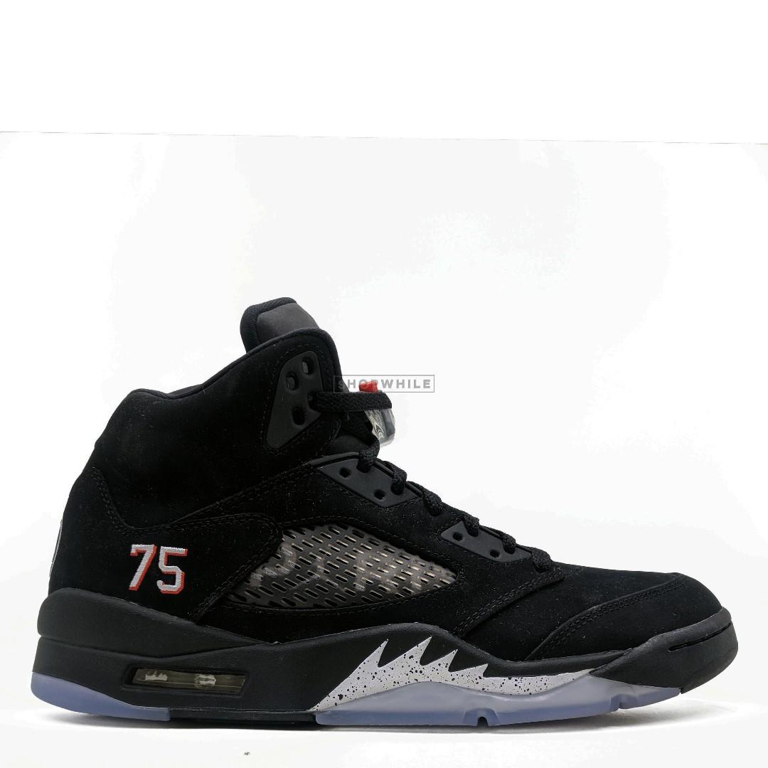 e7b70f686c7 NIKE Jordan 5 Retro Paris Saint-Germain (AV9175-001), Men's Fashion ...