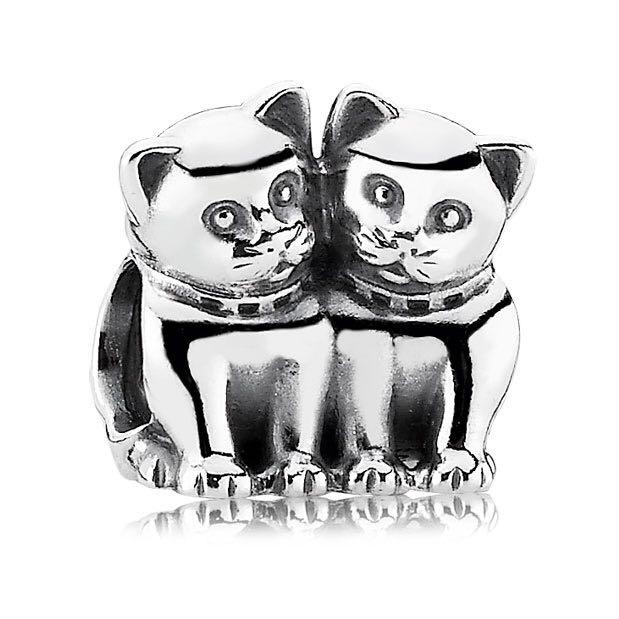 035767a67 Pandora Twin Cat Charm, Women's Fashion, Jewellery, Others on Carousell