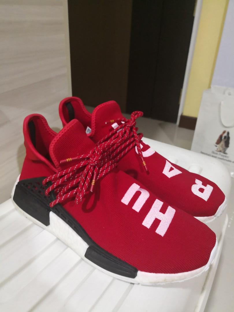 new style 50ea4 49caa Pharrell Williams NMD Red, Men's Fashion, Footwear, Sneakers ...