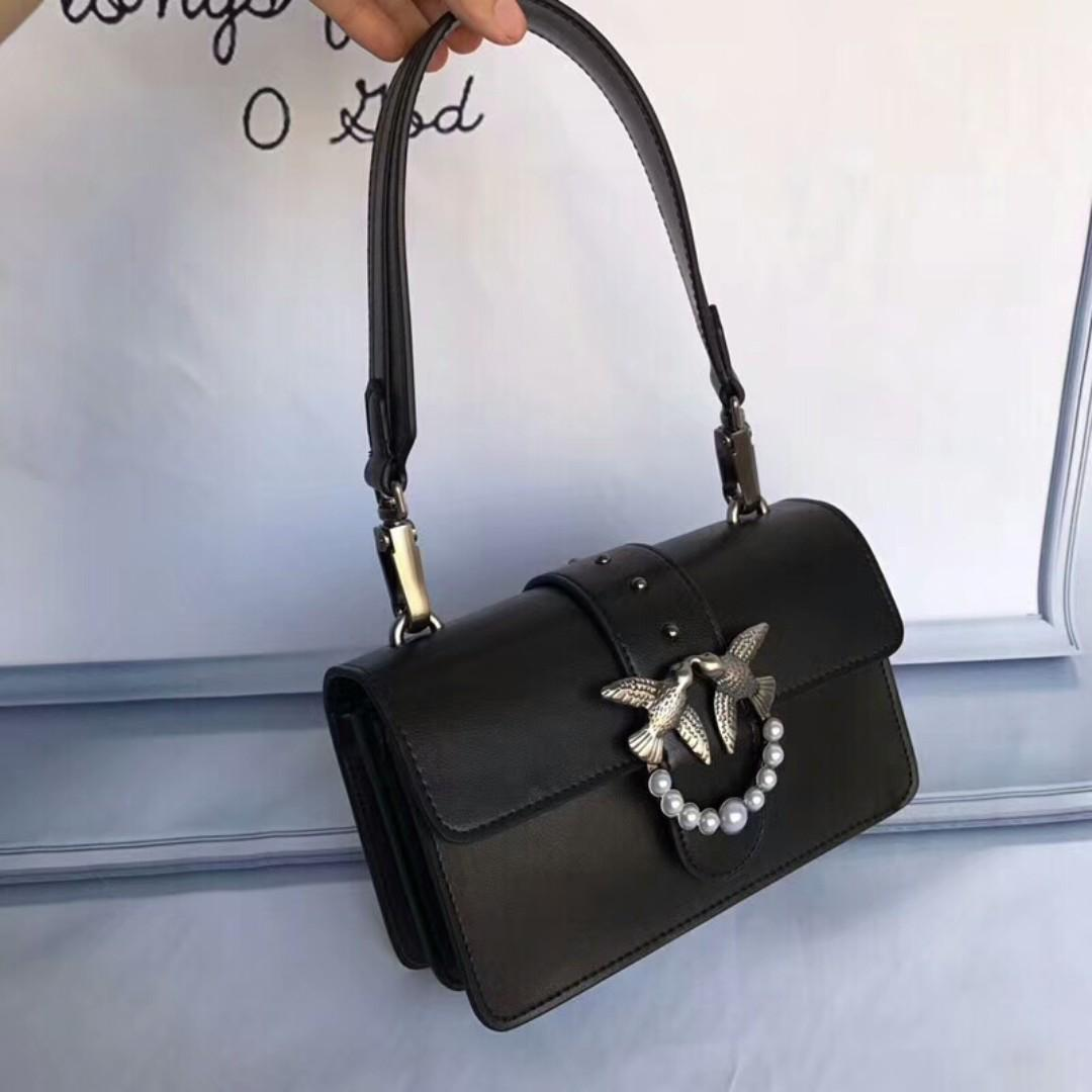 pretty nice be17c faa57 Pinko black clutch, Women's Fashion, Bags & Wallets ...