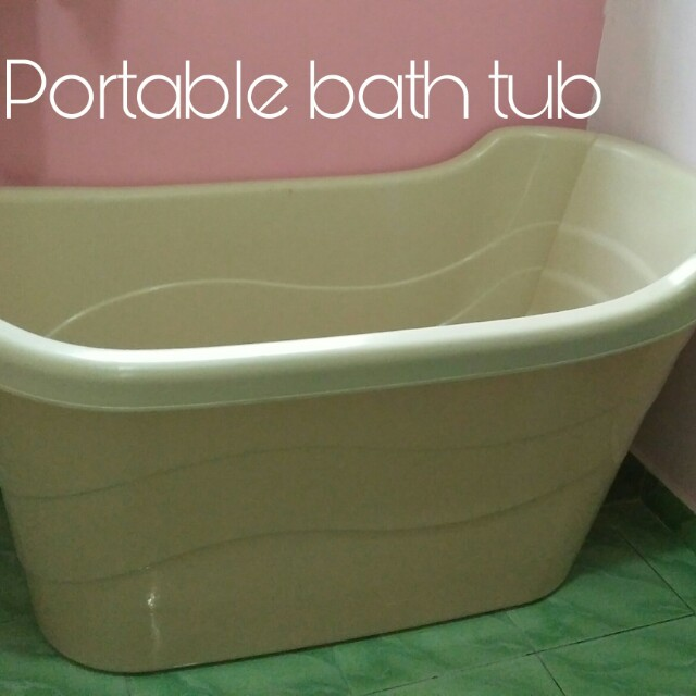 Portable Bath Tub, Rumah & Perabot, Others di Carousell
