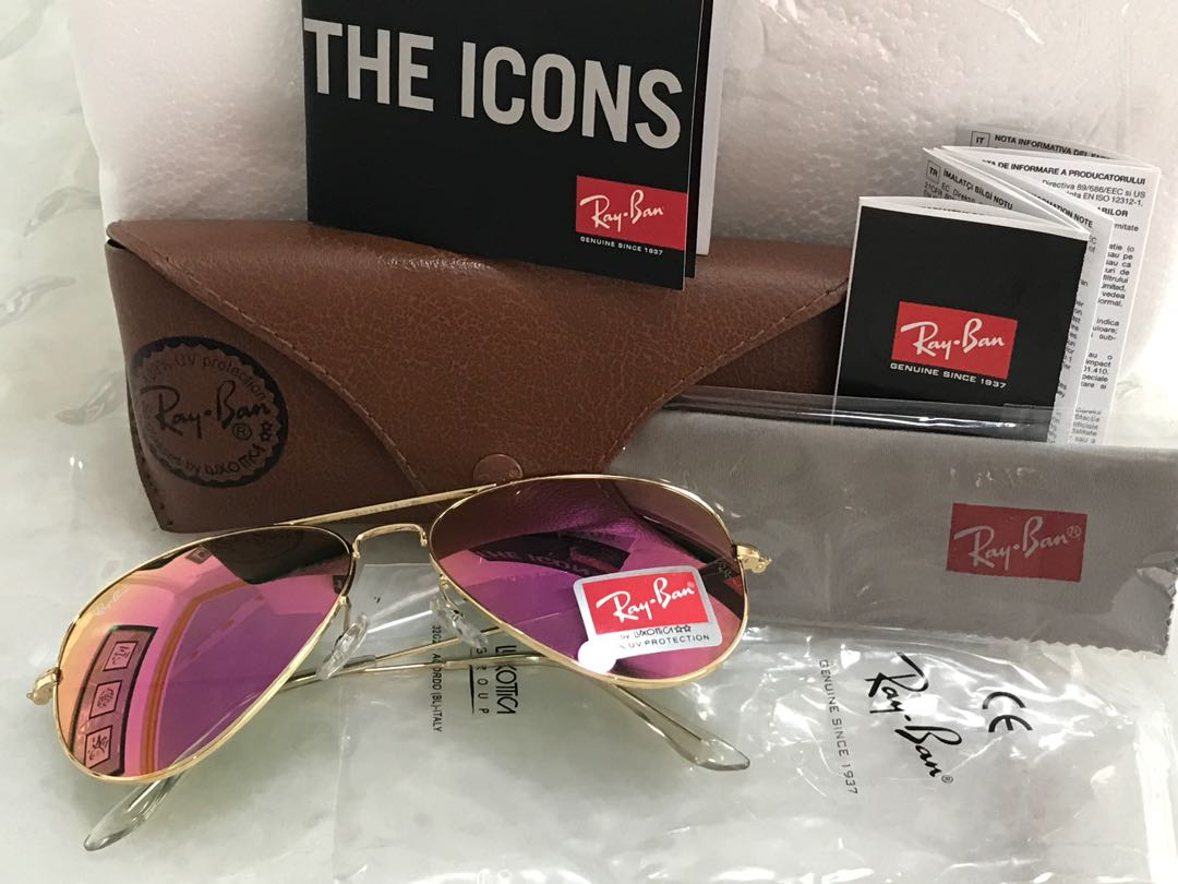 size 40 39bf5 3ba43 Rayban Aviator sunglasses, purple uv lens. Very limited stock ...