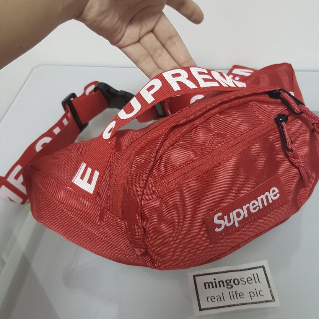 cb9111b8e831 Red SUPREME Waist Pouch Waist Bag