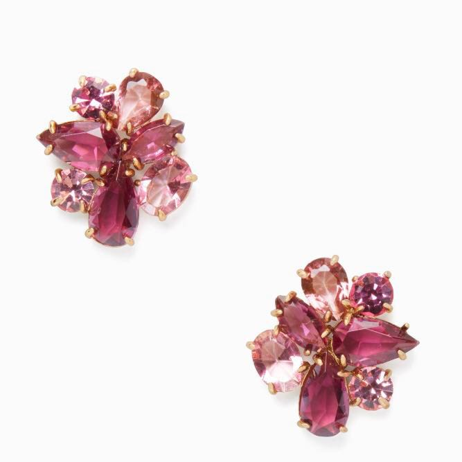 2c6d4e912f643 SALE Kate Spade Cluster Studs Earrings Berry Multi