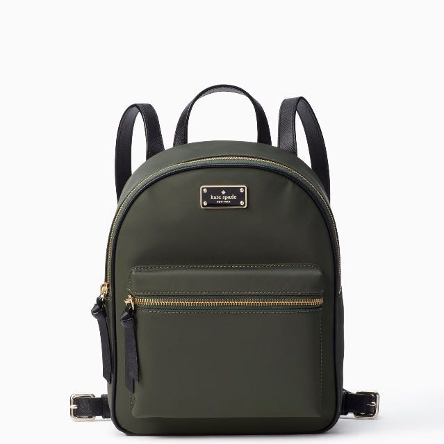 SALE Kate Spade Wilson Road Small Bradley Backpack Evergreen Army ... dbdadc1c574fc