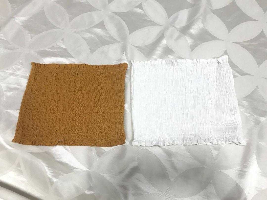 c33c05e0b81b20 TEMT mustard   burnt orange bandeau tube top