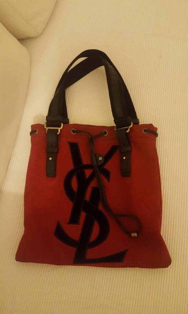 f6f5fff52220 YSL canvas tote bag