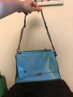 blue handbag sling bag 手袋