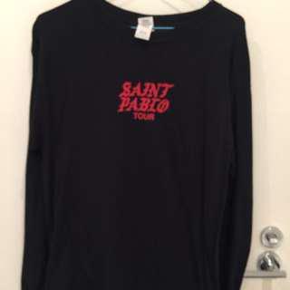 Authentic Unisex Black Pablo Long-sleeve Shirt