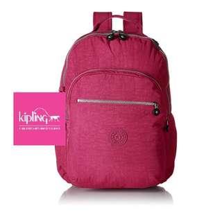 Kipling Seoul Solid Laptop Berry Polyestyer Backpack