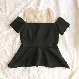 Black scuba top