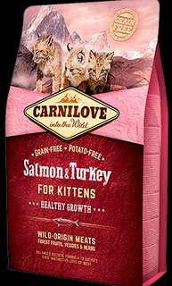 6kg CARNILOVE Salmon & Turkey for Kittens – Healthy Growth