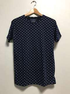 Blue polka dot tshirt