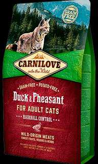 6kg CARNILOVE Duck & Pheasant for Adult Cats – Hairball Control