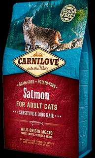 6kg CARNILOVE Salmon for Adult Cats – Sensitive & Long Hair
