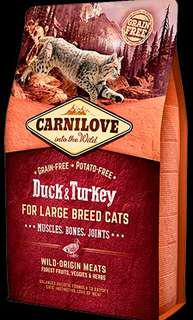6kg CARNILOVE Duck & Turkey for Large Breed Cats – Muscles, Bones, Joints