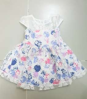 Periwinkle Dress 1y 12m 1t polka dots lace cotton comfy casual formal sunday wedding bithday attire ootd