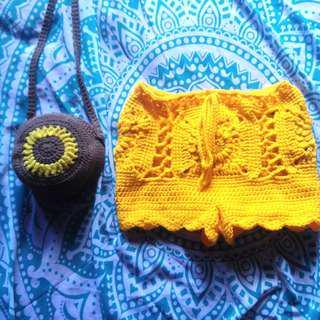 granny's square short (crochet)