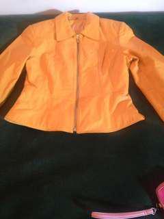 Yellow 100 percent Leather