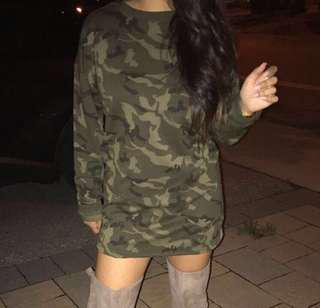 Mendocino army sweater dress