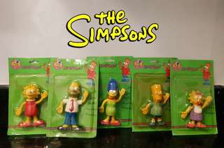 Vintage The Simpsons Bentable and Flexible Figures