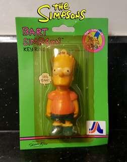 "Vintage Bart Simpson ""The Simpsons"" Key Ring"