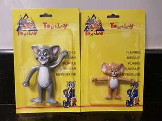 Vintahe Tom and Jerry Bentable and Flexible Figures