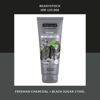 FREEMAN CHARCOAL BLACK SUGAR 175ML
